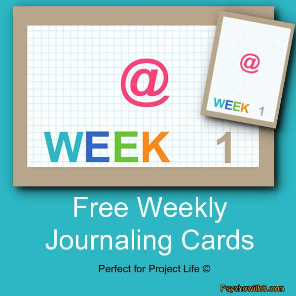 Weekly Cards Project Life