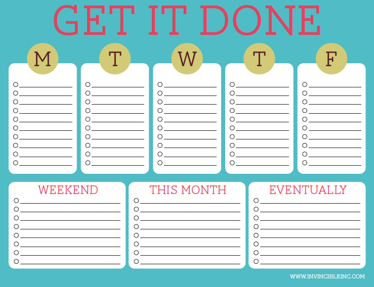 Can A Daily/Weekly/Monthly To Do List Help You Get More Done ...